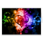 Colorful Heart Greeting Card