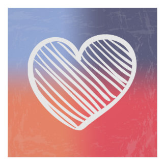 Colorful heart illustration poster