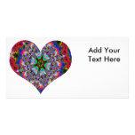 Colorful Heart Kaleidoscope Photo Card