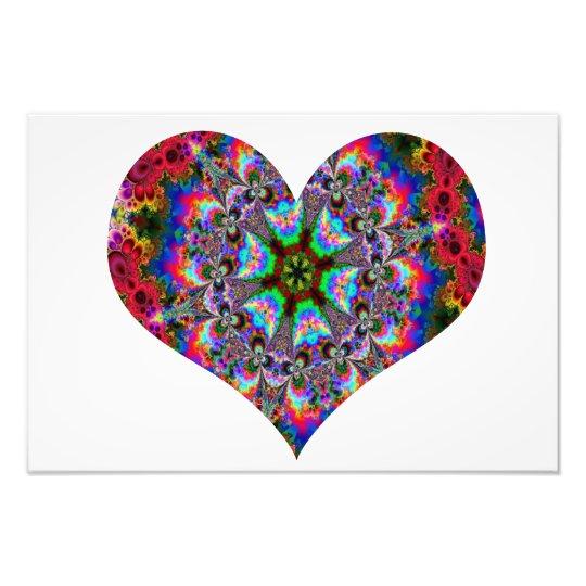 Colorful Heart Kaleidoscope Photo Print