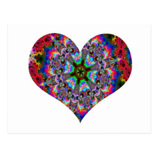Colorful Heart Kaleidoscope Postcard