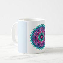 Colorful Heart Mandala Coffee Mug