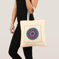 Colorful Heart Mandala Tote Bag