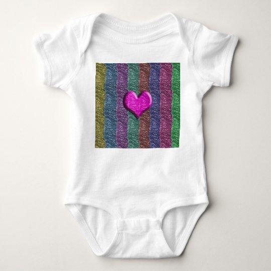Colorful Heart Metal Mesh Baby Bodysuit
