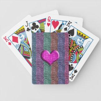 Colorful Heart Metal Mesh Bicycle Card Deck