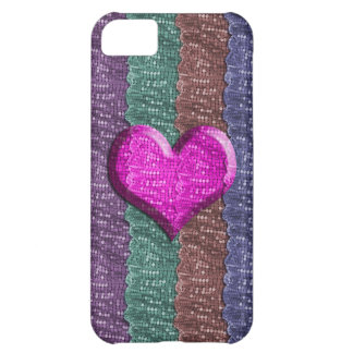 Colorful Heart Metal Mesh iPhone 5C Case