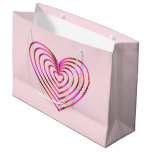 Colorful heart pattern large gift bag