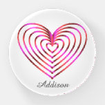 Colorful heart pattern paperweight