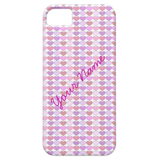Colorful Heart Pattern Personalized iPhone 5 Case