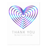 Colorful heart pattern postcard
