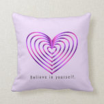 Colorful heart pattern throw pillow