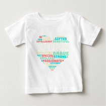 Colorful Heart Puzzle Autistic Autism Awareness Baby T-Shirt