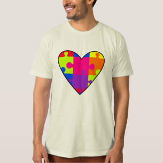 Colorful Heart Puzzle Tshirt