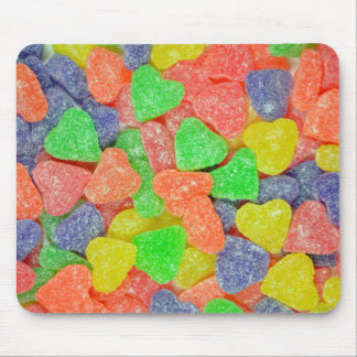 Colorful heart shaped candy mouse pad