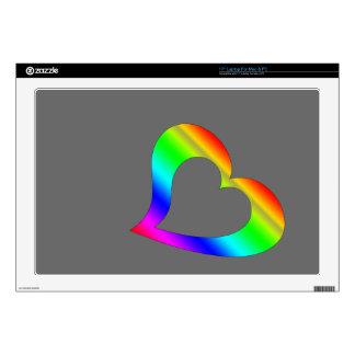 """Colorful heart skin for 17"""" laptop"""