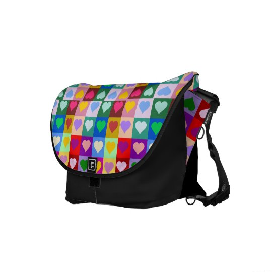 Colorful Heart Squares bag