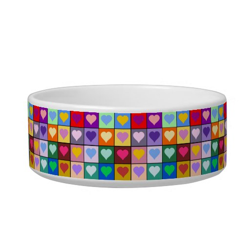 Colorful Heart Squares Bowl