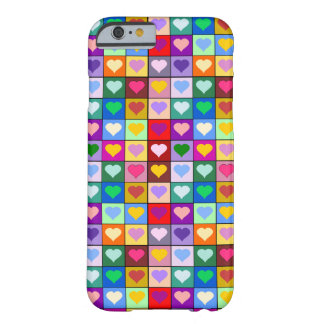 Colorful Heart Squares Barely There iPhone 6 Case