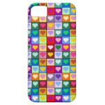 Colorful Heart Squares iPhone 5 Case