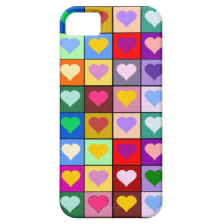 Colorful Heart Squares iPhone SE/5/5s Case