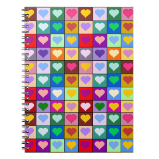 Colorful Heart Squares Journal