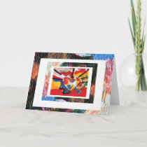 colorful heart with borders card
