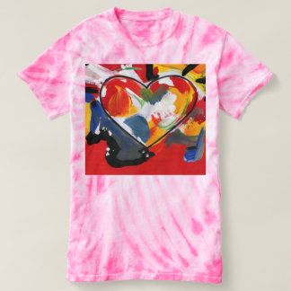 Colorful heart Women's Cyclone Tie-Dye T-Shirt
