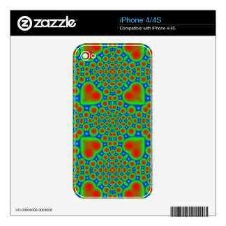 Colorful hearth and circle pattern iPhone 4 skins