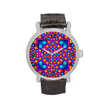 Colorful hearth and circle pattern watches