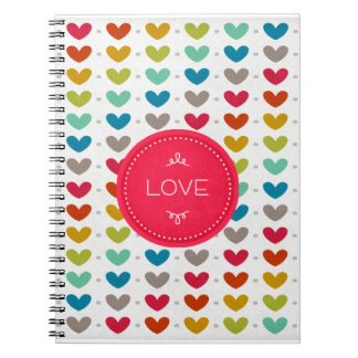 Colorful Hearts And A Stitch Of Love Notebook