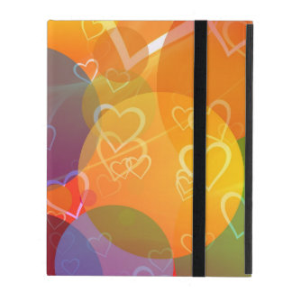 Colorful Hearts and Balloons Pattern iPad Covers