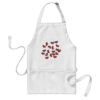 colorful hearts adult apron