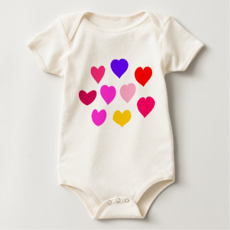 Colorful Hearts Baby Bodysuit