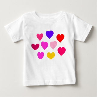 Colorful Hearts Baby T-Shirt