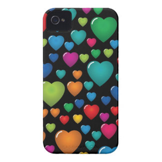 Colorful Hearts BlackBerry Bold Case
