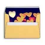 Colorful Hearts Bokeh Vintage Blue Yellow Orange Envelope