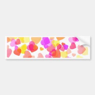 Colorful Hearts Bumper Sticker