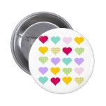 Colorful Hearts Button