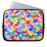 Colorful Hearts Confetti laptop case Laptop Sleeve