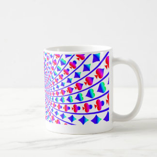 Colorful Hearts, Diamonds, Spades, and Clubs Coffee Mug