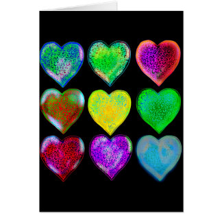 Colorful Hearts dk Card