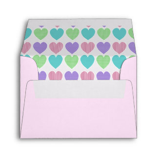 Colorful Hearts Envelope