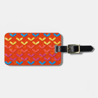Colorful Hearts Galore Luggage Tag