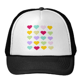 Colorful Hearts Mesh Hat