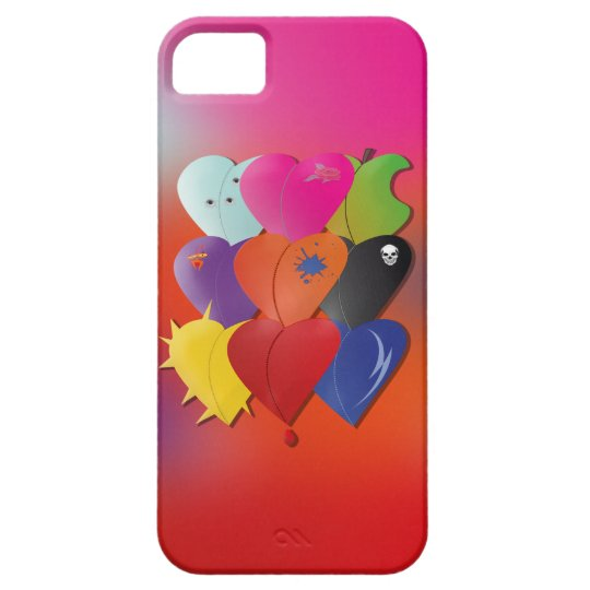 Colorful Hearts in Various Designs and Feel iPhone SE/5/5s Case