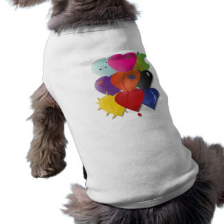 Colorful Hearts in Various Designs and Feel Pet Clothes