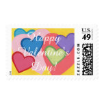 Colorful Hearts Layered Valentine Stamps