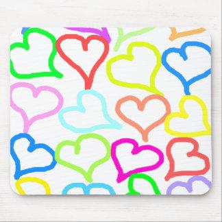 Colorful hearts Mousepad