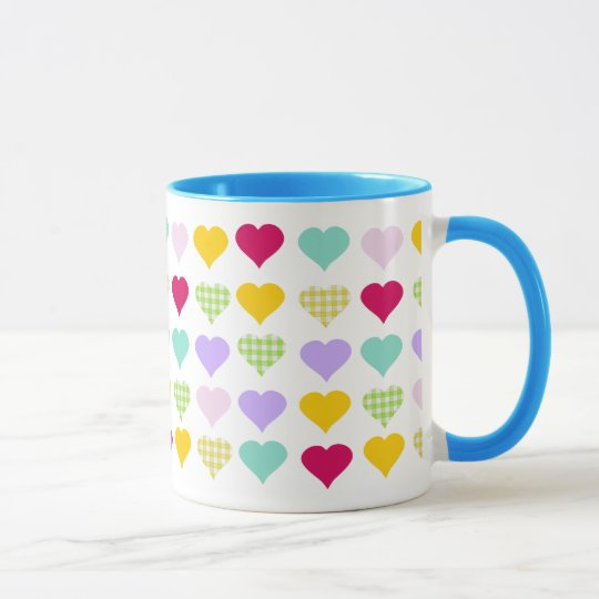 Colorful Hearts Mug