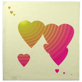 Colorful Hearts Party MoJo Napkins